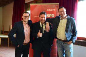 Thomas Menz mit Norbert Schaub und Holger Buczynski