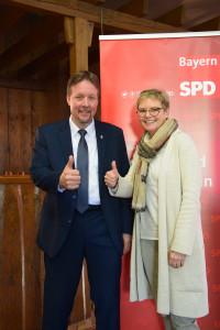 Thomas Menz mit Sabine Dittmar
